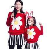 花仙子蝙蝠袖針織毛衣母女親子裝