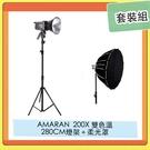 預訂~ APUTURE 愛圖仕 AMARAN 200X 雙色溫 LED燈+ 280CM 燈架+Light Dome SE 柔光罩 套裝組