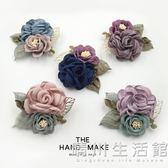 韓版手工簡約胸花布藝花朵胸針大氣外套開衫別針扣配飾品女H0203 晴川生活館