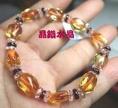 『晶鑽水晶』黃水晶+紅石榴手鍊~不定型~款式超特別*超值優惠價~送禮物優*附禮盒*免運