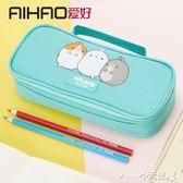 筆袋 多功能帆布筆袋大容量可愛鉛筆盒行簡約文具袋PB906【小天使】
