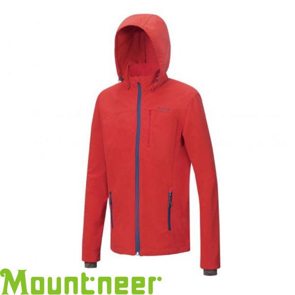 【Mountneer 山林 男款 輕量防風SOFTSHELL外套《紅》】22J11/防水/彈性佳/機能外套★滿額送