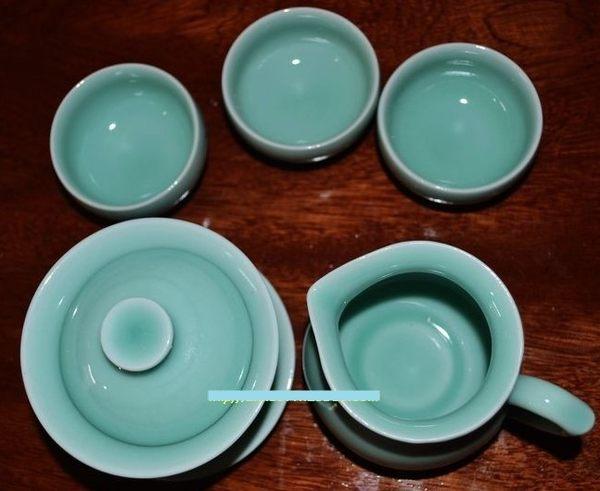 [協貿國際]  整套青瓷8頭蓋碗茶具功夫茶具 (1套入)