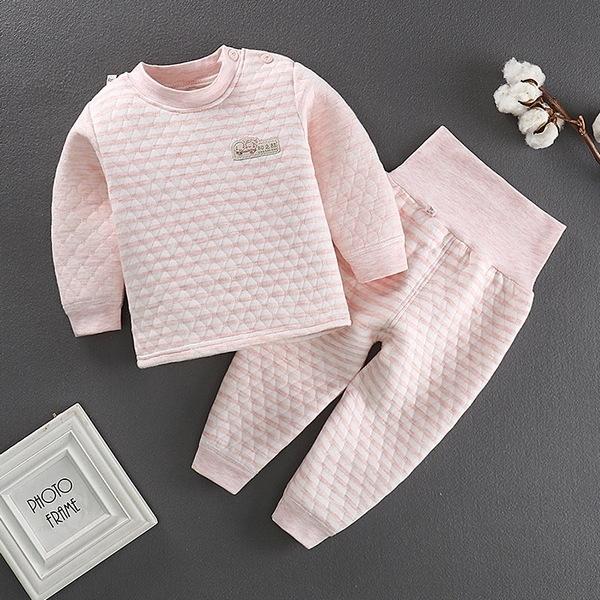長袖護肚套裝 空氣棉肚衣套裝 嬰兒內衣套裝 保暖童裝 HY10902 好娃娃