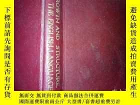二手書博民逛書店中華民國三十九年,1948年出版。精裝英文版《GROWTH罕見A