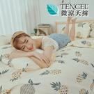 [小日常寢居]#HT020#絲柔親膚奧地利TENCEL天絲4.5x6.5尺單人薄被套(台灣製)萊賽爾Lyocell