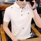 polo衫 男士韓版翻領短袖T恤潮流男裝半截袖POLO衫韓版打底衫體恤ins 4色