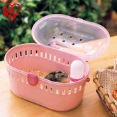 倉鼠便攜籠子小寵盒子手提籠愛麗絲樹脂籠帶飲水器 全館免運聖誕節禮物