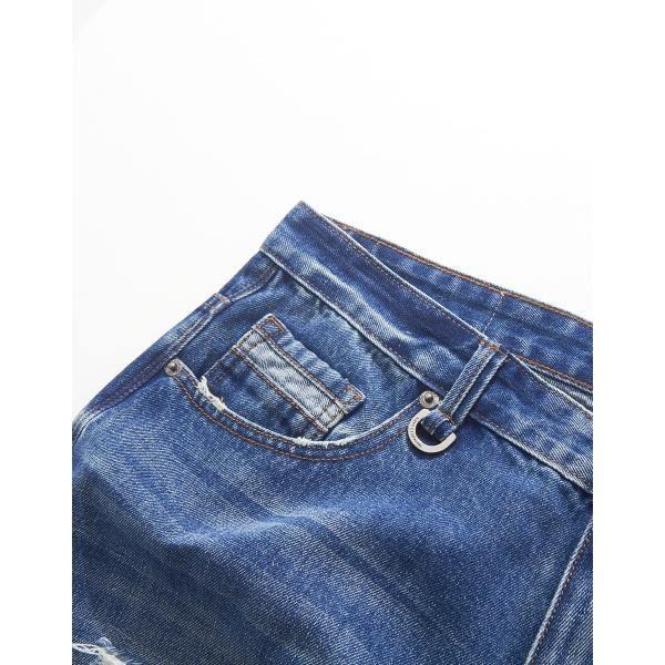 CACO-破壞補丁牛仔褲(兩色)-情侶款-男【SNA014】