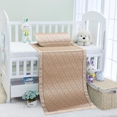 夏季透氣兒童涼席幼兒園午睡專用寶寶藤席新生兒嬰兒床草席子   LannaS