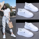小白鞋 女鞋2021年夏季新款透氣鞋子薄款板鞋百搭休閒老爹運動白鞋【八折搶購】