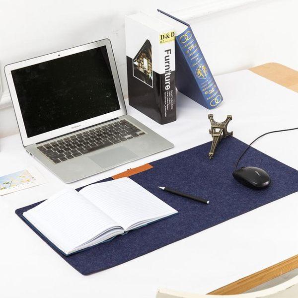雜啊極簡氣質毛氈辦公家用單層桌墊超大號游戲電腦滑鼠墊鍵盤墊WY