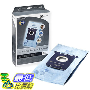 [美國直購] Genuine Electrolux EL203 3 bags 吸塵器專用 真空袋 Anti-Odor Pet s-bag