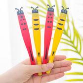 【BlueCat】可愛扁頭瓢蟲蜜蜂軟橡膠中性筆