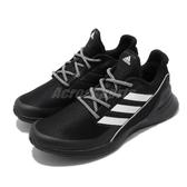 adidas 慢跑鞋 RapidaRun Knit J 黑 白 女鞋 大童鞋 運動鞋 【PUMP306】 EE7638