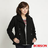 BOBSON 女款雙排釦毛呢外套(黑32112-88)
