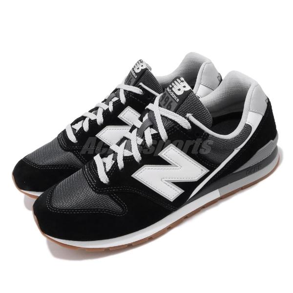 【六折特賣】New Balance 休閒鞋 NB 996 黑 白 男鞋 女鞋 運動鞋 【ACS】 CM996SMBD