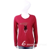TRUSSARDI T 亮片字母紅色棉質T恤 1810241-54