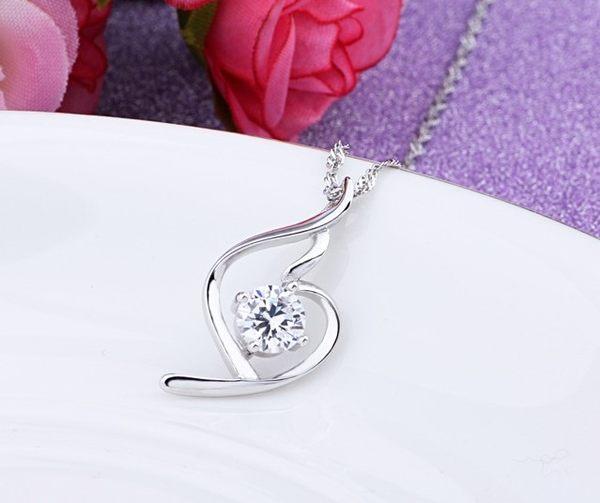 項鍊 925純銀項鍊女吊墜 日韓版時尚學生簡約鎖骨鏈配飾百搭項圈 母親節禮物