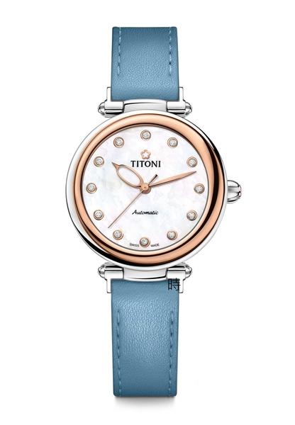 TITONI 梅花麥 瑞士 時尚 機械錶(23978 SRG-STS-622) 快拆/玫塊金框