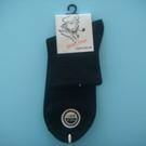 臺灣製 老船長舒適寬口襪(黑色)/襪子/短襪/1/2襪/學生襪/細緻舒適.透氣不悶腳.耐磨吸汗