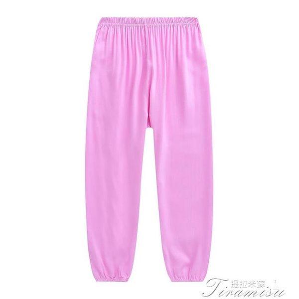 太極褲-女男夏人造棉綢長褲睡褲薄款大童舞蹈太極褲大人燈籠褲成人 提拉米蘇