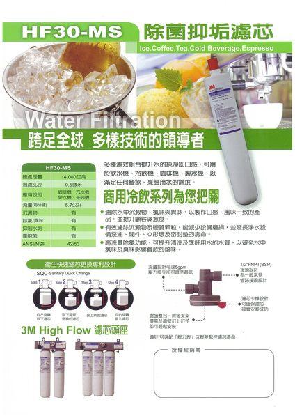 【天耀淨水】3M HF-35MS 【高流量活性碳抑垢淨水器】餐飲商用淨水過濾設備