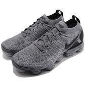 Nike Wmns Air VaporMax Flyknit 2 灰 黑 大氣墊 飛線編織 慢跑鞋 女鞋 【PUMP306】 942843-002