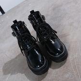 618大促 網紅短靴女秋冬2018新款chic馬丁靴女英倫風百搭棉鞋加絨雪地靴