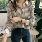 DE SHOP~(XA-4188)寬鬆BF格子襯衫女長袖上衣襯衫