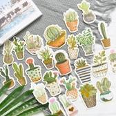 行李箱貼紙  手帳燙金貼紙包綠植星球手賬裝飾DIY不干膠