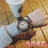 手錶 中國原宿古風bf手表男女學生韓版簡約潮流休閑復古大表盤