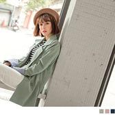 《EA2470》袖反褶條紋排釦西裝外套 OrangeBear