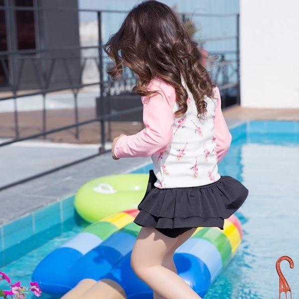 【年終大促】正韓兒童潛水服小中大女童分體水母衣泳衣
