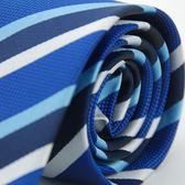 【Alpaca】藍底藍白斜紋領帶