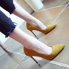尖頭高跟鞋 女細跟顯瘦OL單鞋【多多鞋包店】z1172