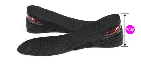 愛麗絲的最愛☆❤~~風靡日韓~AIR-UP舒適氣墊三層增高鞋墊(全墊)可增高7CM(男女適用)(現貨+預購)