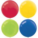 24吋乳膠氣球4入-彩虹...