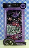 【震撼精品百貨】Hello Kitty 凱蒂貓~HELLO KITTY iPhone4貼鑽手機殼-黑星星