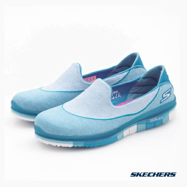SKECHERS 女鞋  健走系列 GO FLEX 14010TURQ - 水藍x土耳其藍