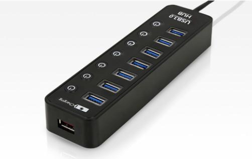 [ 中將3C ]   Uptech 登昌恆 UH270C 7-Port +1-Port 充電埠 USB 3.0 Hub集線器  UH-270C