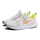 NIKE LEGEND REACT 2 白 黃橘 網布 緩震 回彈 訓練 慢跑鞋 男 (布魯克林) AT1368-008