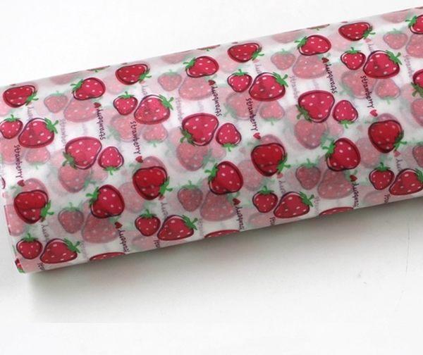 蛋糕防油紙三明治袋漢堡袋紙盒裝50入草莓082774通販屋