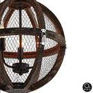 吊燈★Loft工業混搭木意 網狀透光吊燈 3燈✦燈具燈飾專業首選✦歐曼尼✦