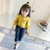 女童襯衫長袖上衣2兒童娃娃衫白色洋氣襯衣棉1-3-5歲 米菲良品