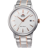ORIENT東方 紳士機械錶-銀x玫瑰金時標/40.5mm RA-AC0004S