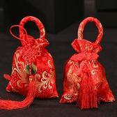 618好康鉅惠婚禮喜糖袋中國風錦緞刺繡喜糖盒