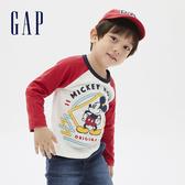 Gap男幼童 Gap x Disney 迪士尼系列圖案圓領長袖T恤 618251-白色