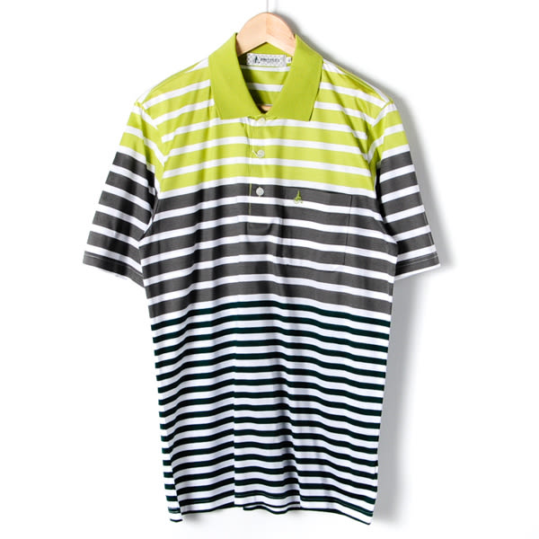John Duke 經典條紋POLO衫-綠灰