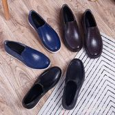 雨鞋 低幫防滑膠鞋男成人時尚短筒廚師廚房工作鞋 QX5034【棉花糖伊人】